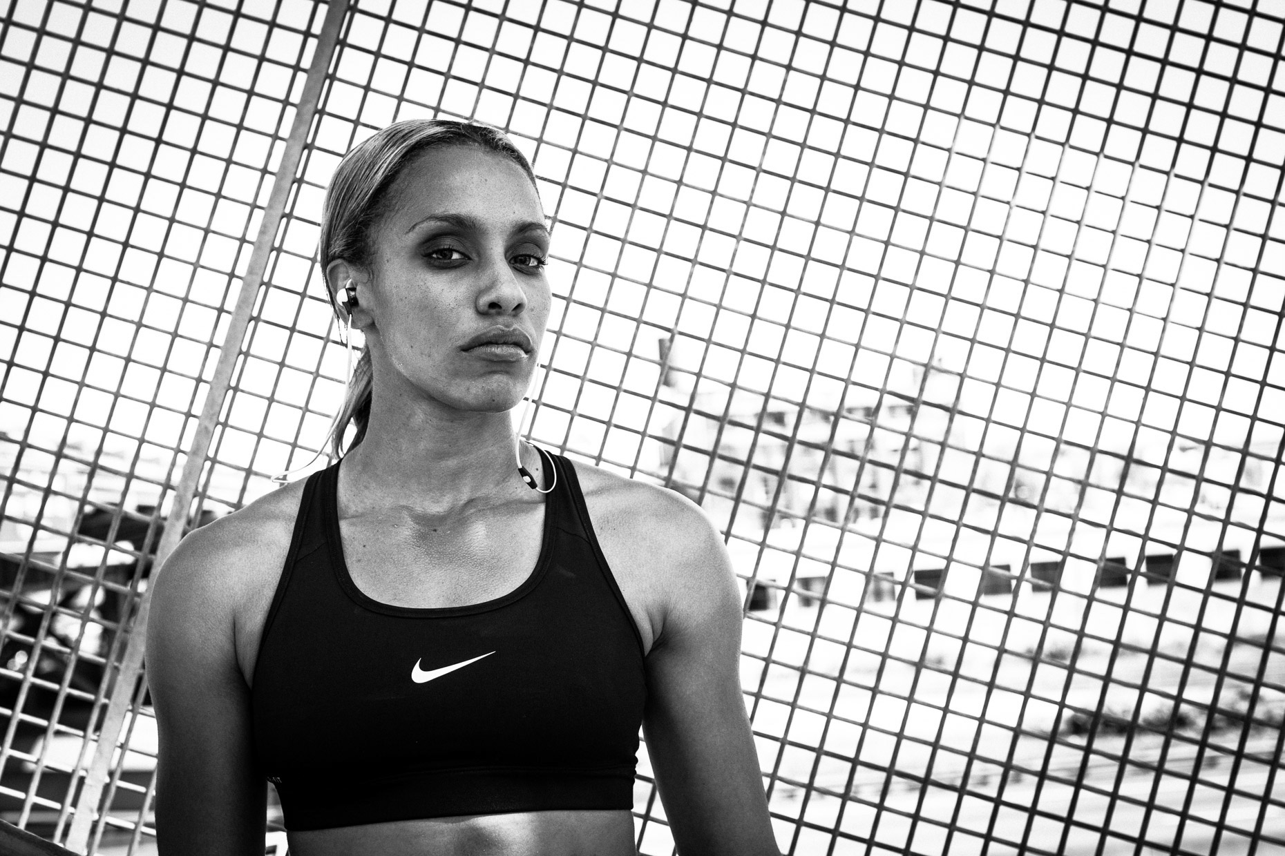 Track Olympian athlete Carol Rodriguez for Monster isport on the Portland Esplanade by Andy Batt