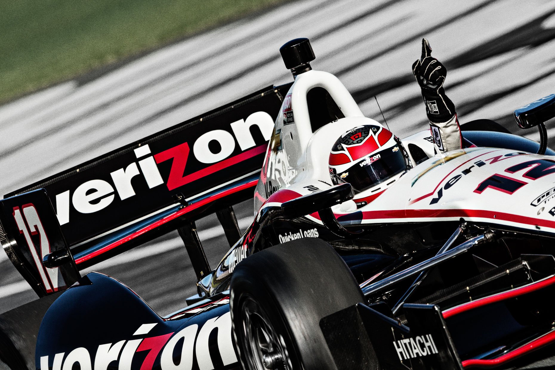 Racecar driver Will Power Wins IndyCar Team Penske Charlotte Motor Speedway by Andy Batt