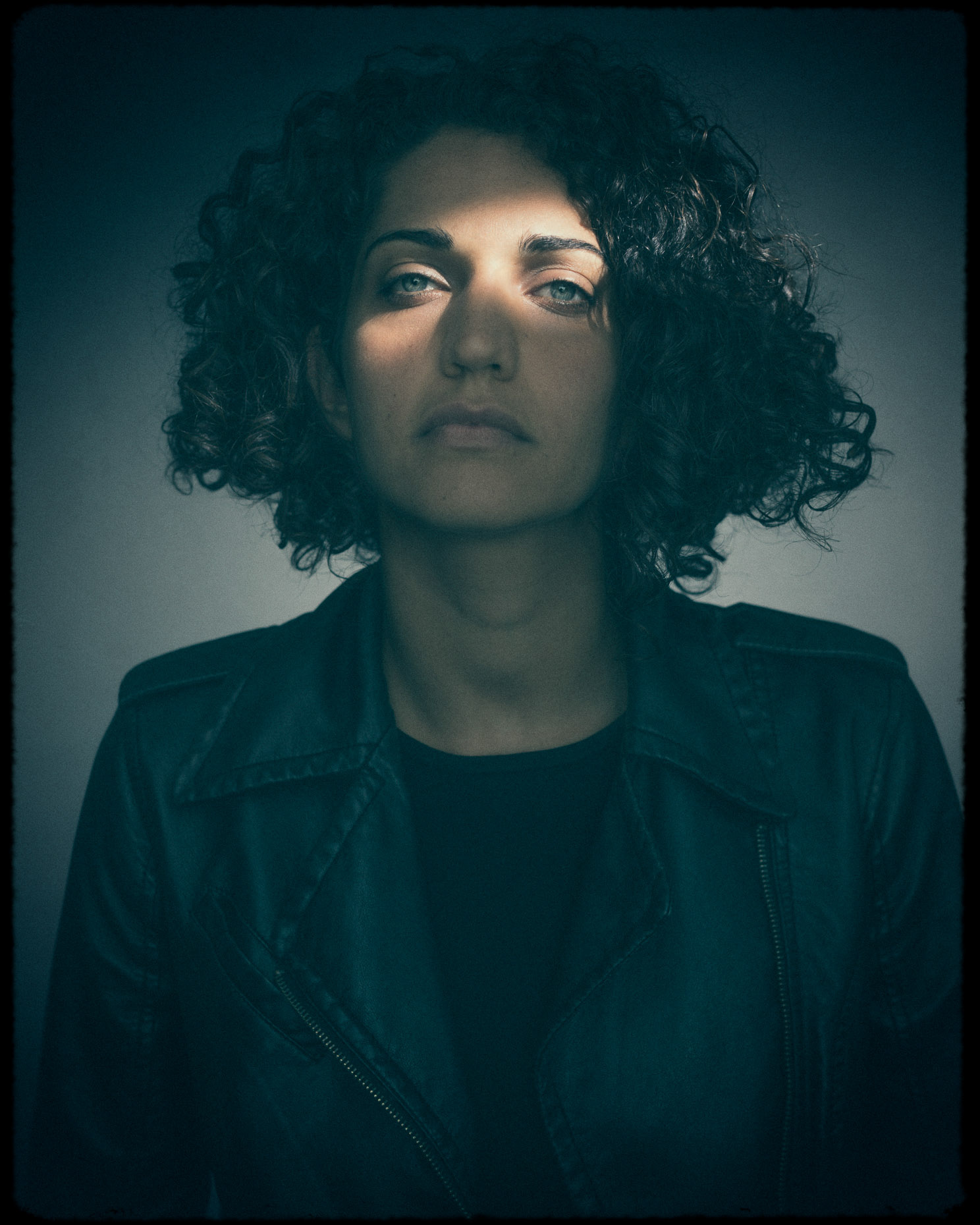 Editorial portrait of Portland actor and lifestyle model Mahsa Darabi light portrait by Andy Batt