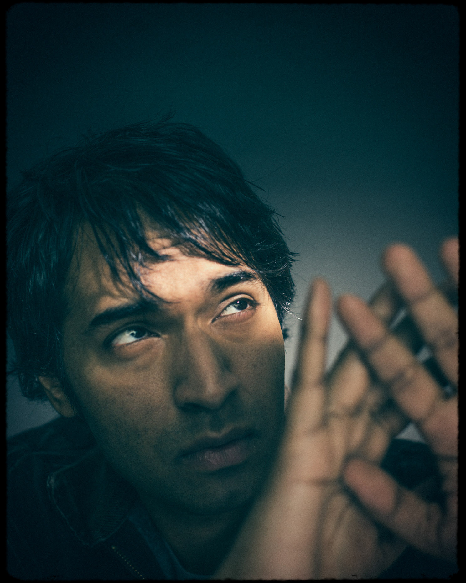 Editorial portrait of LA Actor Amitesh Prasad light portrait by Andy Batt