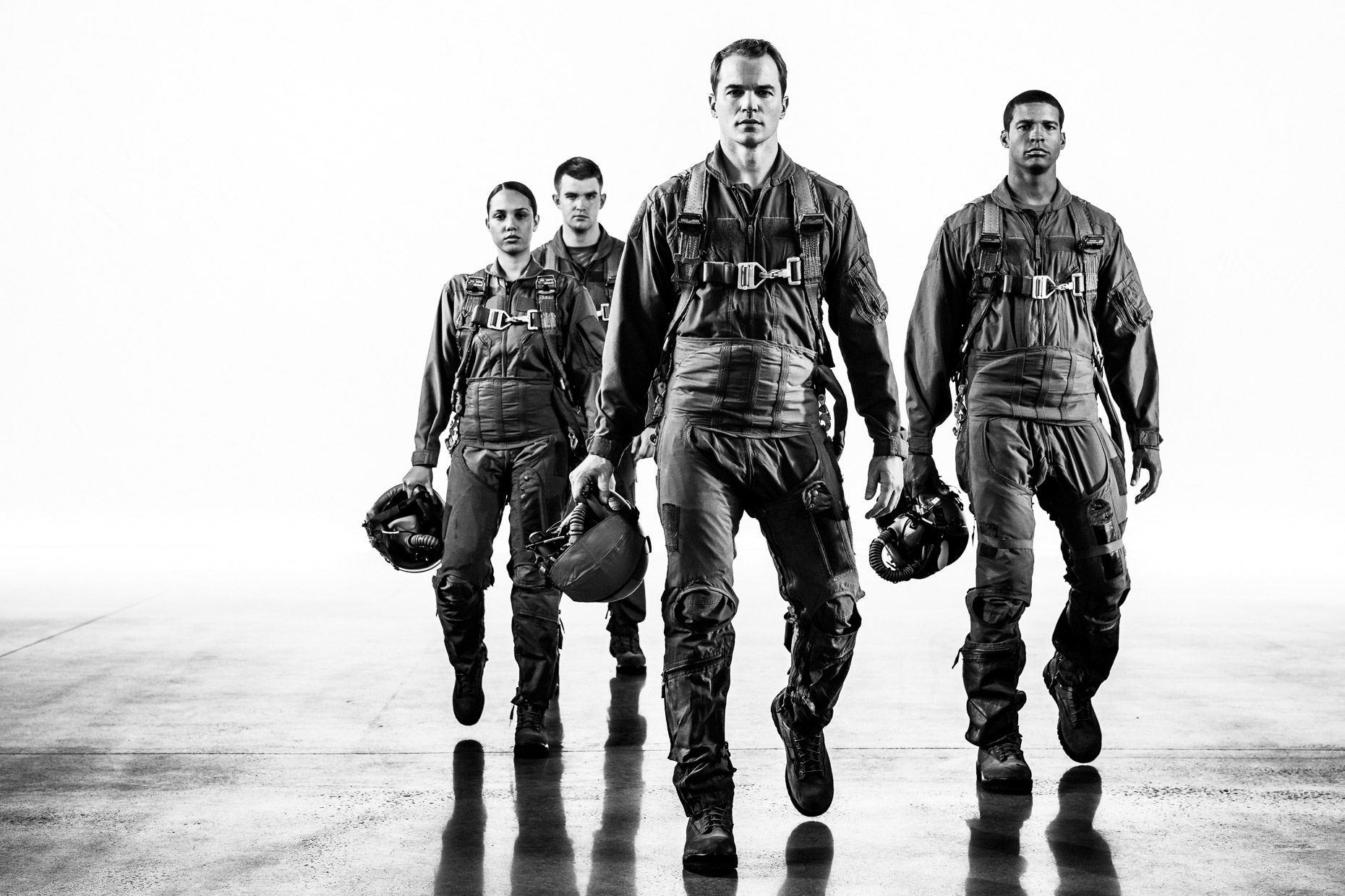 Fighter pilot-training for Northrop Grumman military portraits with Chris Ryan, Austin Michael Young, and Hadasa Isolino. Inspired by The Right Stuff - by Andy Batt