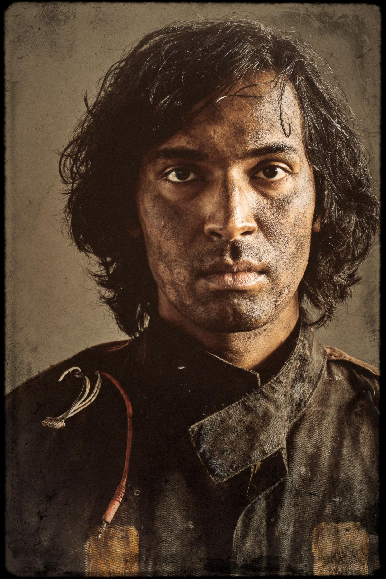 Character Portrait of actor Amitesh Prasad as Fourteen, one of 9 main characters. Introducing the apocalyptic world of the Bad Choices Project, a cinematic visual screenplay and personal project by Andy Batt.